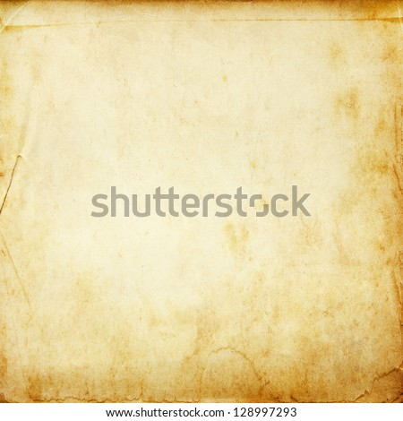 Vintage old paper texture for background - stock photo