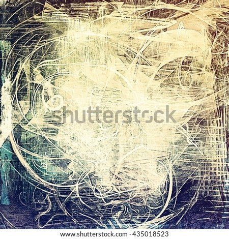 Vintage old-style texture, worn and rough grunge background with different color patterns: yellow (beige); brown; blue; gray; black; white - stock photo