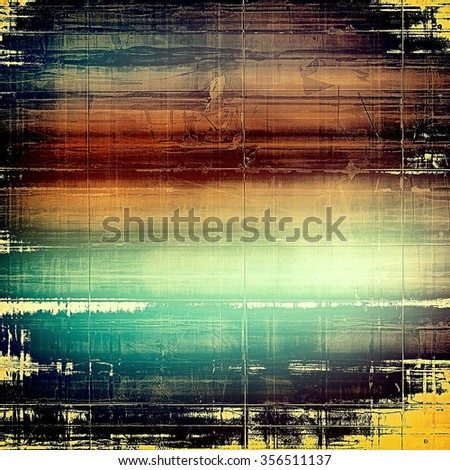 Vintage old texture for background. With different color patterns: yellow (beige); brown; blue; black - stock photo