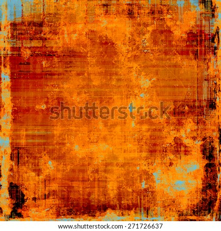 Vintage old texture for background. With different color patterns: yellow (beige); brown; cyan; red (orange) - stock photo