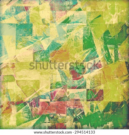 Vintage old texture for creative retro background. With different color patterns: yellow (beige); brown; blue; green - stock photo
