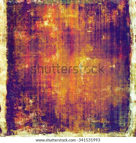 Vintage old texture with space for text or image, distressed grunge background. With different color patterns: yellow (beige); brown; purple (violet); red (orange) - stock photo