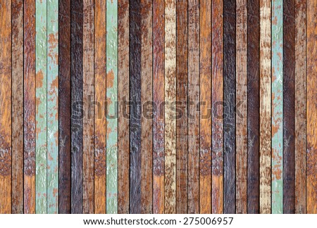 vintage old wooden line vertical background texture:retro aged wood panel stripe wallpaper:ancient slat plank floorboards backdrop.peeling chipboard wall.glazed glossy plywood stripe vertical display - stock photo