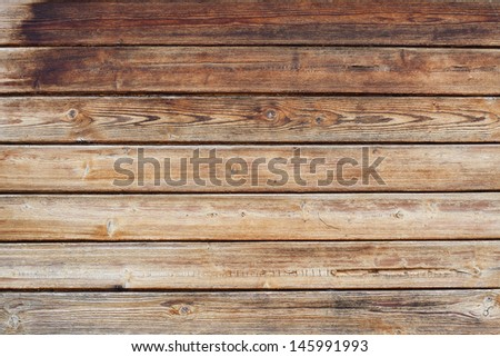 Vintage old wooden planks background - stock photo