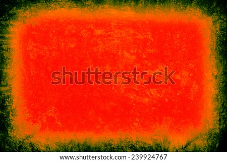 Vintage or grungy green-red-orange background of natural cement old texture as a retro pattern layout. It is a concept, conceptual or metaphor wall banner, grunge, material, aged,construction - stock photo