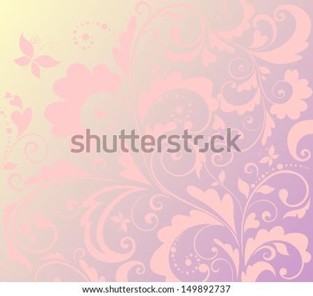 Vintage ornate floral background. Raster copy - stock photo