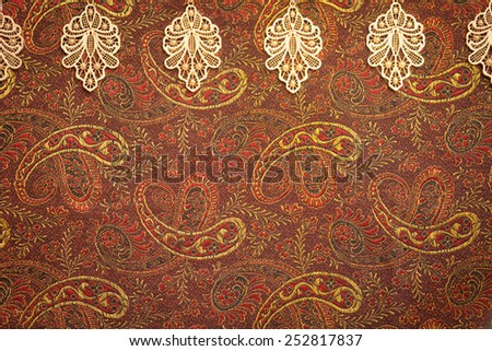 Vintage paisley background - stock photo