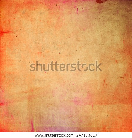 Vintage paper background, ideal for grunge style cover designs. - stock photo