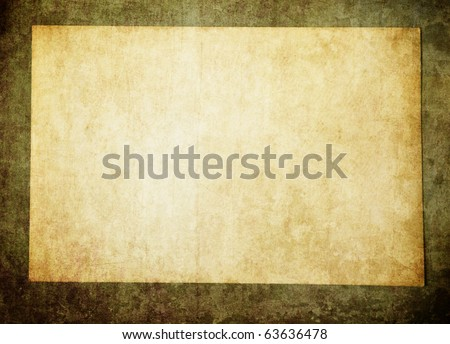 Vintage paper on wall - stock photo