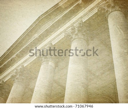 vintage paper with columns - stock photo