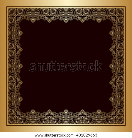 Vintage pattern for design, print, embroidery (you can use this pattern for carpet, shawl, pillow, cushion). Raster version. - stock photo