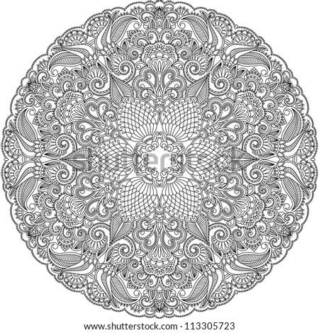 Vintage pattern for print. Raster version. - stock photo