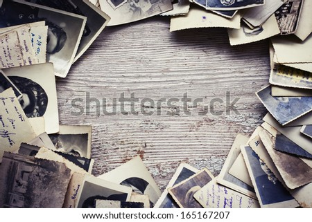 Vintage photo background - stock photo