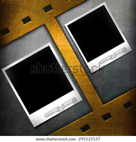 Vintage photo blank frame - stock photo
