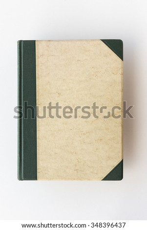 Vintage photo book cover / front page - stock photo