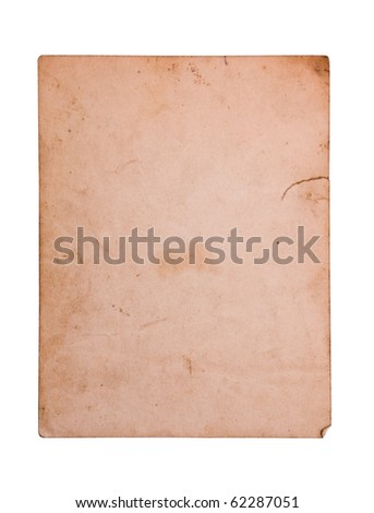 Vintage photo card. Saved with clipping path. - stock photo