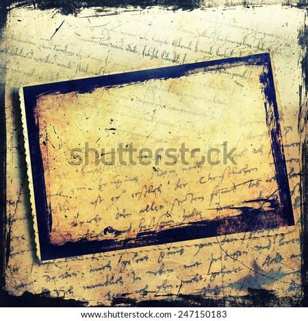Vintage photo frame background - stock photo