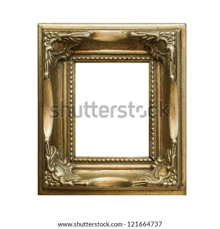 Vintage photo frame - isolated on black background - stock photo