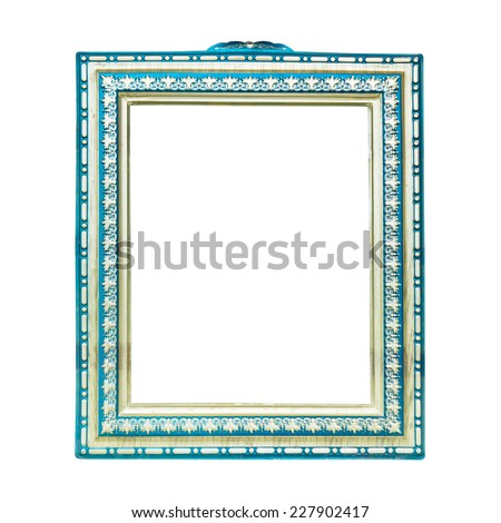 Vintage photo frame isolated on white background - stock photo