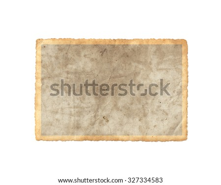 Vintage photo paper. Vintage paper background - stock photo