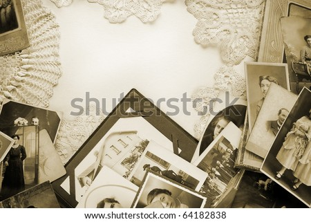 Vintage photos and memories - stock photo
