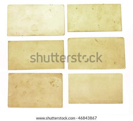 Vintage pieces of paper - stock photo