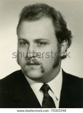 Vintage portrait of young man - stock photo