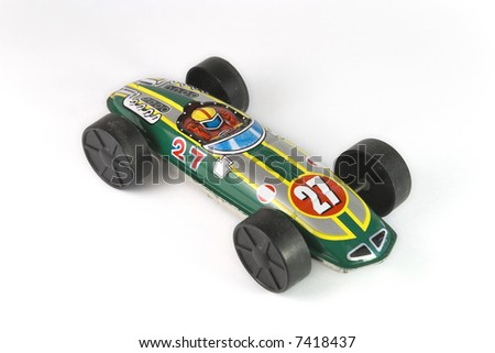 vintage race car - stock photo