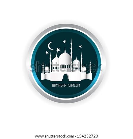 Vintage Ramadan Kareem background - stock photo