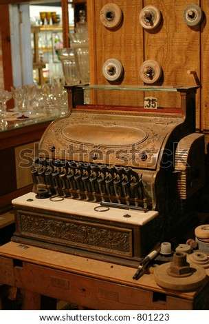 Vintage Register - stock photo