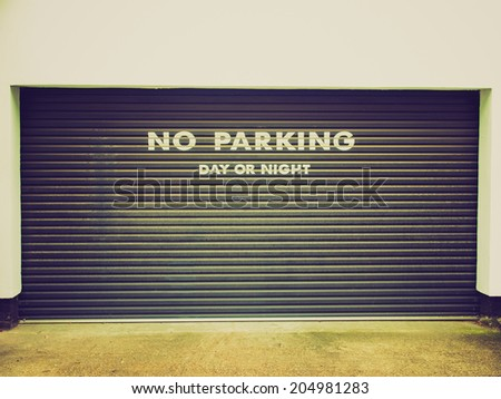 Vintage retro looking A road sign for a no parking area - stock photo