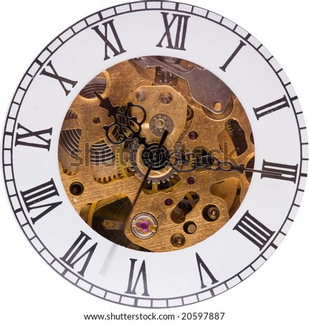 vintage , retro pocket watch - stock photo
