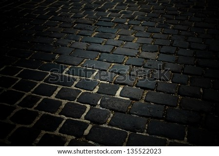 vintage road 15. - stock photo