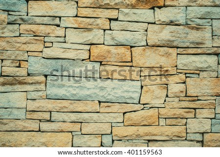 Vintage rock brick sandstone wall texture.  - stock photo