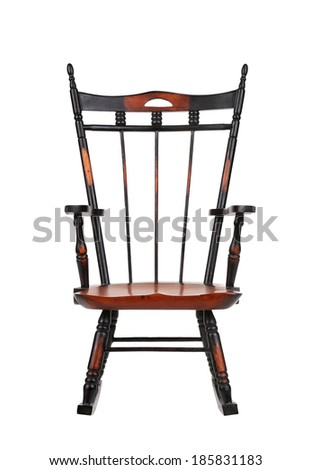 Vintage Rocking Chair - stock photo