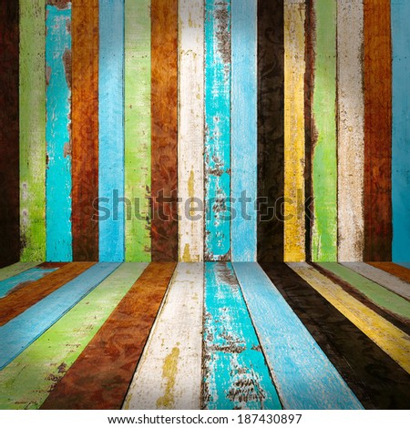 vintage rough wood plank abstract for background - stock photo
