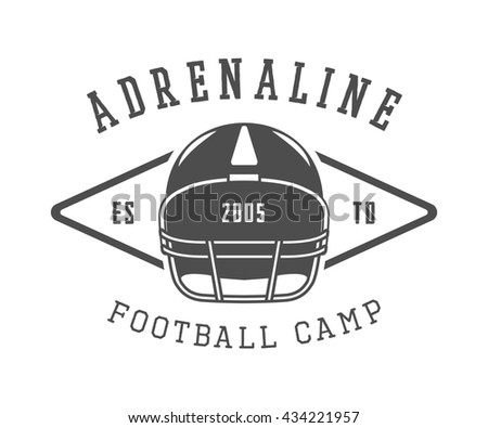 Vintage rugby and american football label, emblem or logo. Graphic Design. Illustration   - stock photo