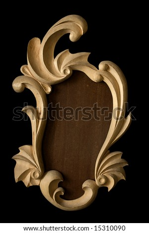 vintage rustic frame - stock photo