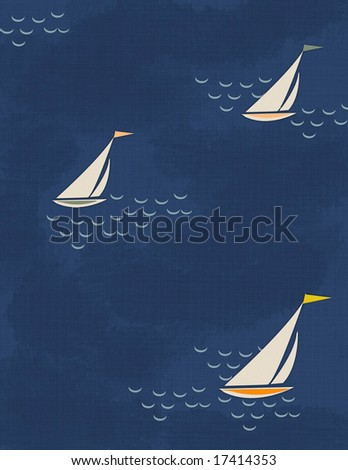 Vintage Sail Illustration - stock photo