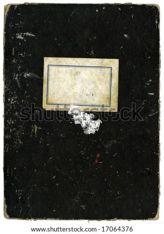 Vintage school notebook with copy-space - stock photo
