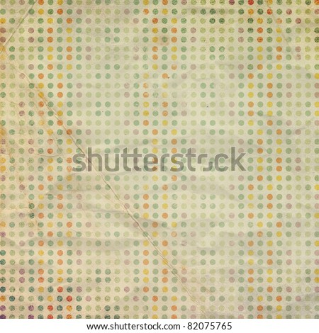 Vintage scrap paper with circles - stock photo
