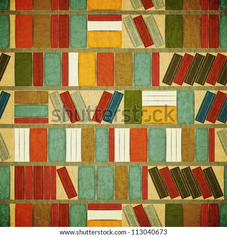 Vintage Seamless  Book Background - JPEG version - stock photo