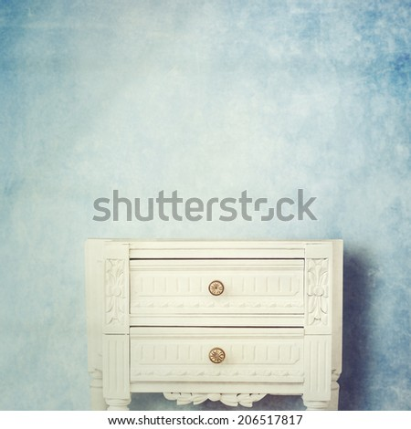 vintage side table - stock photo