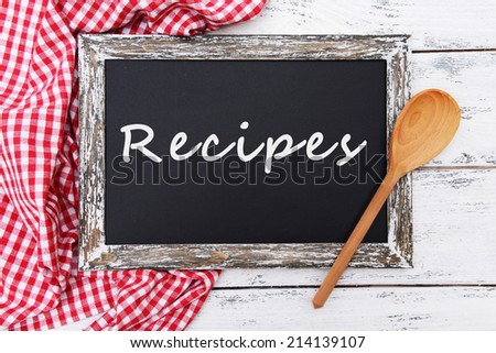 Vintage sign board on wooden background  - stock photo