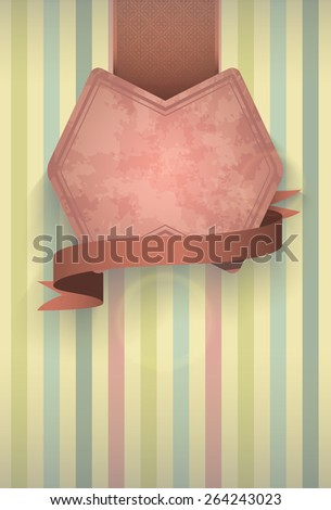 vintage sign on a striped background for your design menus, drinks, etc. - stock photo