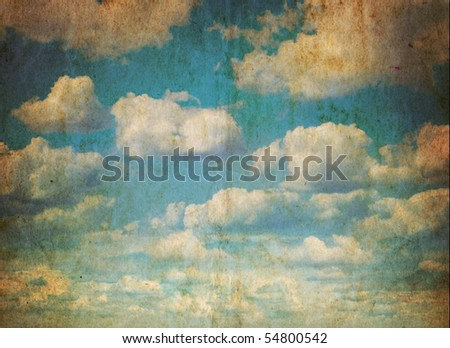 Vintage sky - stock photo