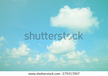 Vintage sky. vintage color filter effect. - stock photo