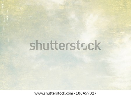 Vintage sky with clouds - stock photo