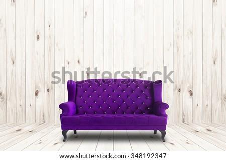 Vintage Sofa in room - stock photo