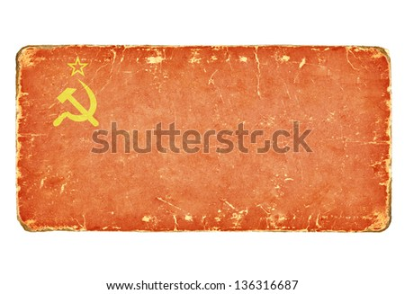 Vintage Soviet flag. - stock photo